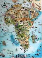 Seekarte Afrika